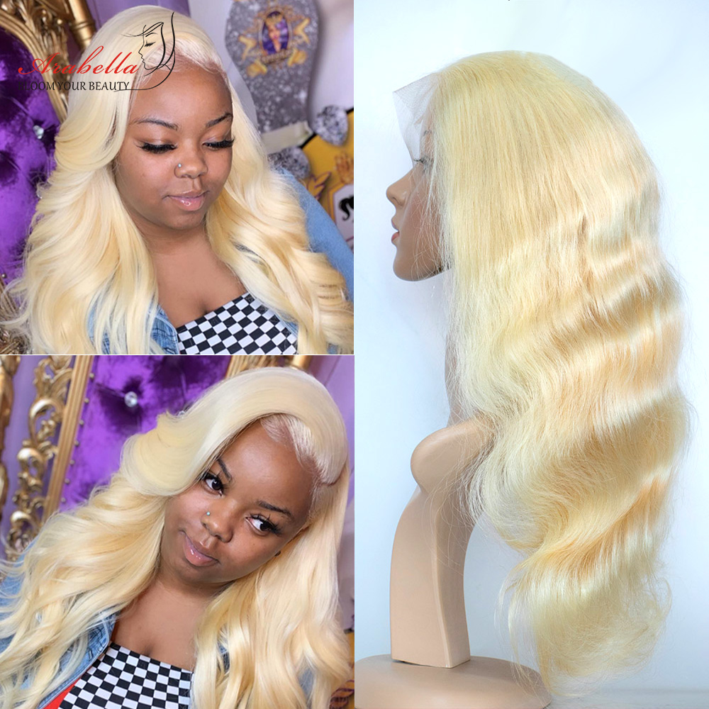 Blonde Lace Front Wig Body Wave 100%  Wigs 13x4 Lace Frontal Wig Arabella  Hair 613 Bob Lace Front 2