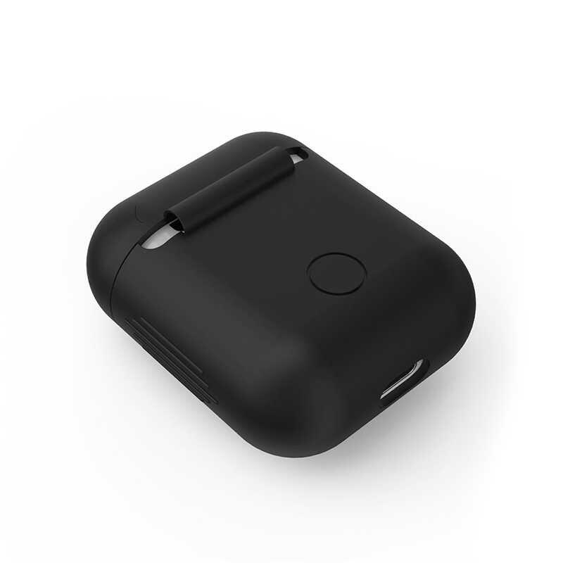 Funda de piel de silicona de varios colores para Airpods a prueba de protección cubierta Anti-Pérdida inalámbrica Bluetooth auriculares accesorios Anti- gota