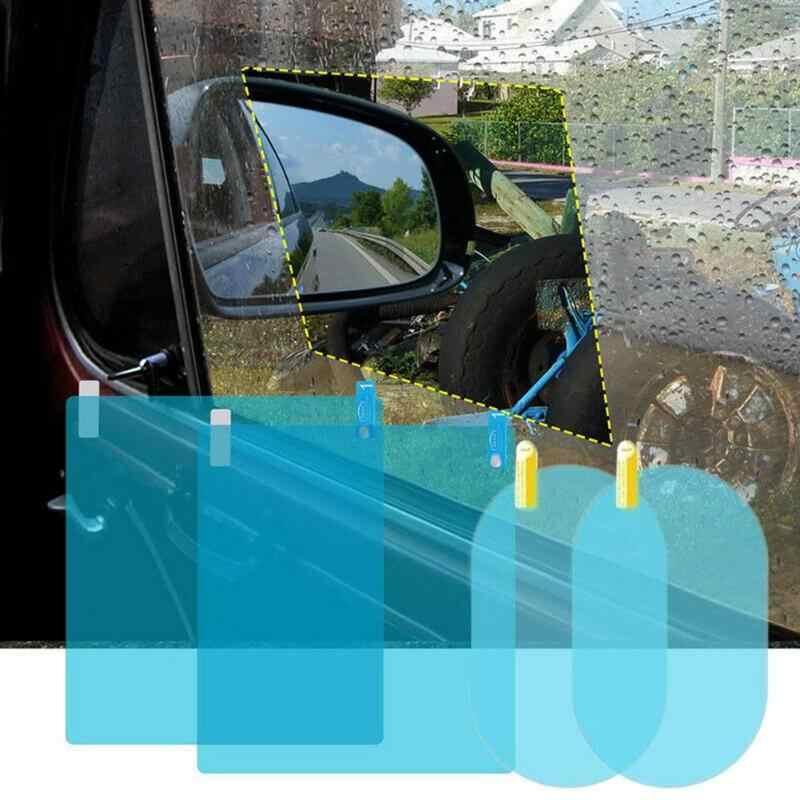 4 יח'\סט רכב צד Rearview מראה מגן סרטים רב תכליתי עמיד למים שריטה הוכחה אנטי ערפל סרטי עם מגרד