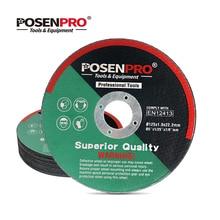 POSENPRO 125mm Cutting Disc 5-Inch Metal Stainless Cutting Wheel Fiber Reinforced Resin 100mm Grinding Wheel Angle Grinder Wheel