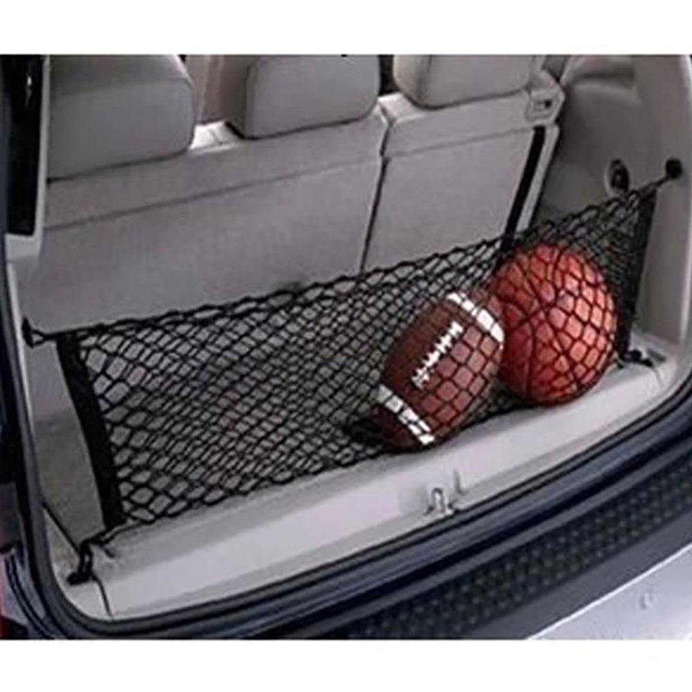 Car Trunk Nets 110 x 50 cm Elastic Strong Nylon Cargo Luggage Storage Organizer Net Mesh With Hooks For Car Van Pickup SUV MPV image