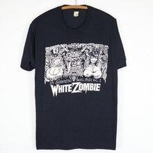 Vintage 1992 branco zombie la sexorcisto vol 1 camisa
