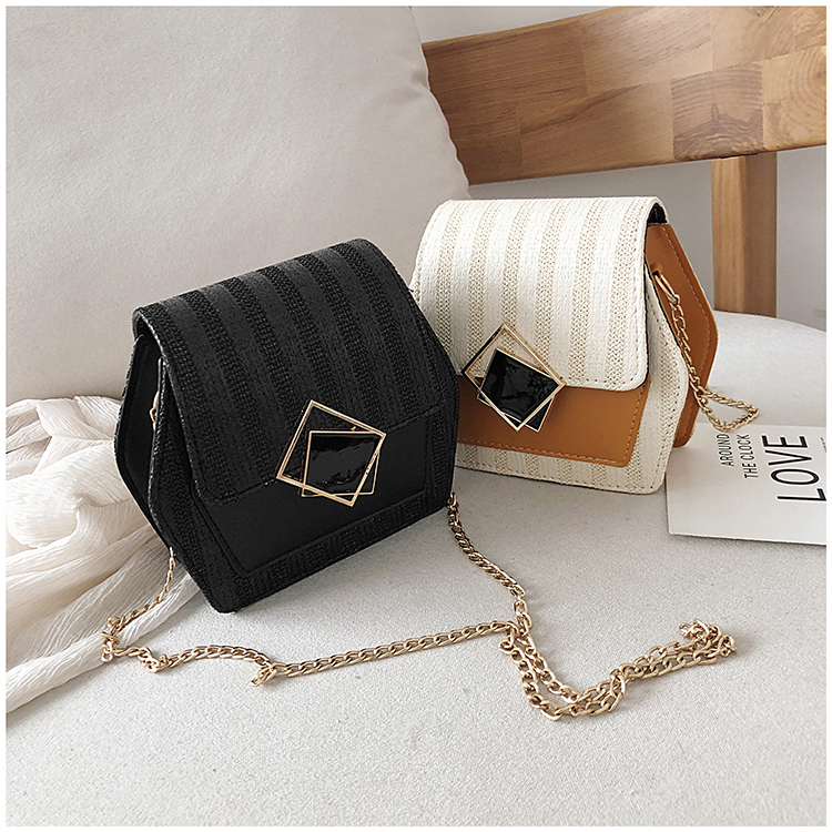 Mini Bag Girl 2019 New Korean Edition Fresh and Popular Fashion Chain PU Slant Bag Personal Bag Mobile Geometric Bag Clothes 83