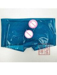 SEXY LATEX BOXER MEN LATEX UNDERWEAR WITH PENIS CONDOM HANDMADE CONDM CUSTOM MADE