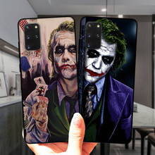 Ciemny rycerz Joker Karta czarny miękkiego silikonu skrzynki pokrywa dla Samsung Galaxy S20 Plus S20 Ultra 5G S8 S9 S10 Plus S7 krawędzi S10E