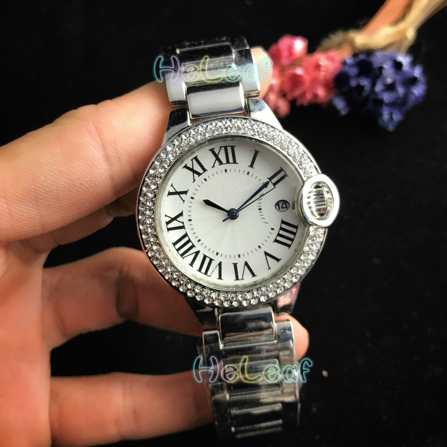 Fashion Silver Gold Stainless Women Brand Watch Quartz Wrist Watches Ladies Girls Famous Diamond Female Clock Montre Femme Reloj