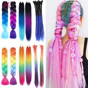 Braiding-Hair Dreadlocks Crochet Senegalese Twist Synthetic-Box Expression Kanekalon