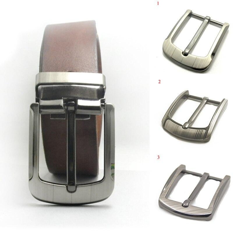 35-40mm Men's Replaceable Pin Buckle Belt Zinc Alloy Laser Pin Buckle Belt Head Men Fashion Simple Buckle Accessories Portable