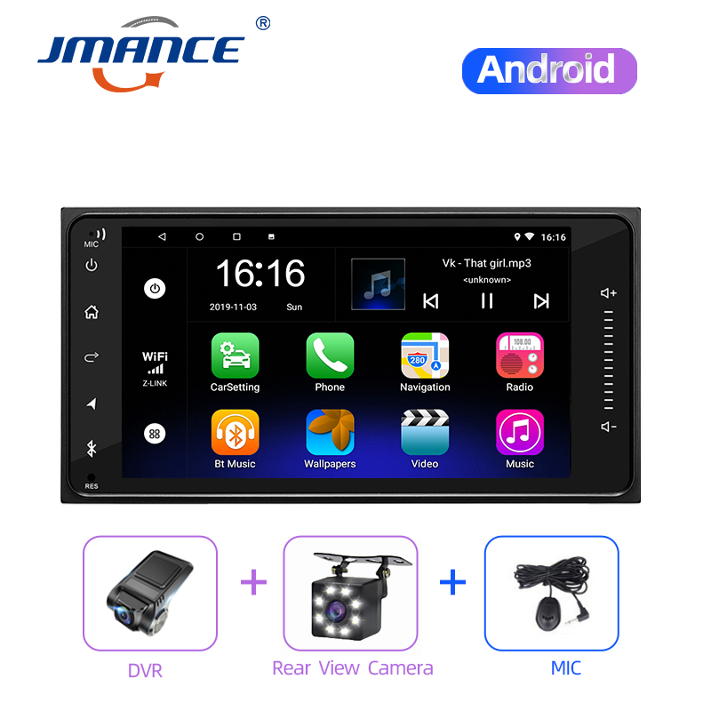 JMANCE Android 8.1 2Din 7 Inch Car Radio GPS Car Multimedia MP5 Player Autoradio Bluetooth Music System image