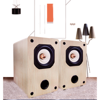 KYYSLB 4 Ohm 8 Ohm 25W 4 Inch Passive Full Frequency Amplifier Speaker Delicate Vocal Three band Balanced Wooden Speakers A Pair