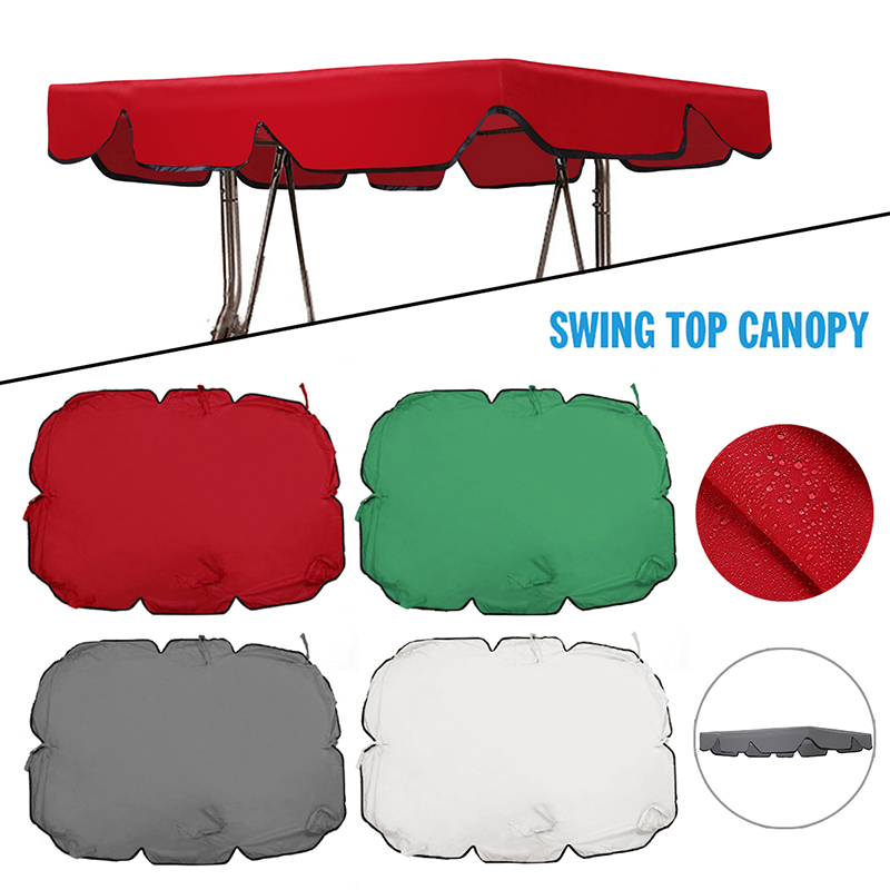 1pc Outdoor Patio Swing Canopy Seat Top Cover Garden 2/3 Seater Size Tent Swing Top Cover Replacement
