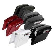 Motorcycle 5 Stretched Extended Saddlebags W/ Top Rail Guard For Harley Touring 1994 2013 Road King Ultra Street Electra Glide