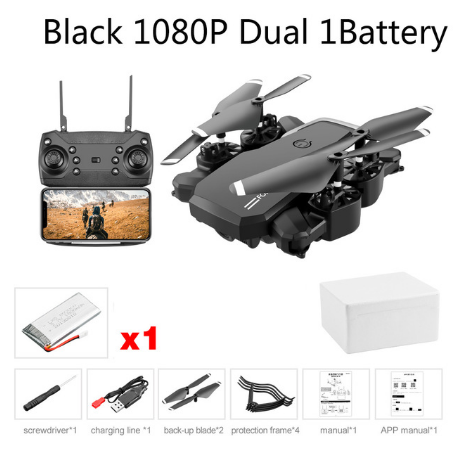 LF609 Drone 4K with HD Camera WIFI 1080P Dual Camera Follow Me Quadcopter FPV Professional Drone Long Battery Life Toy For Kids