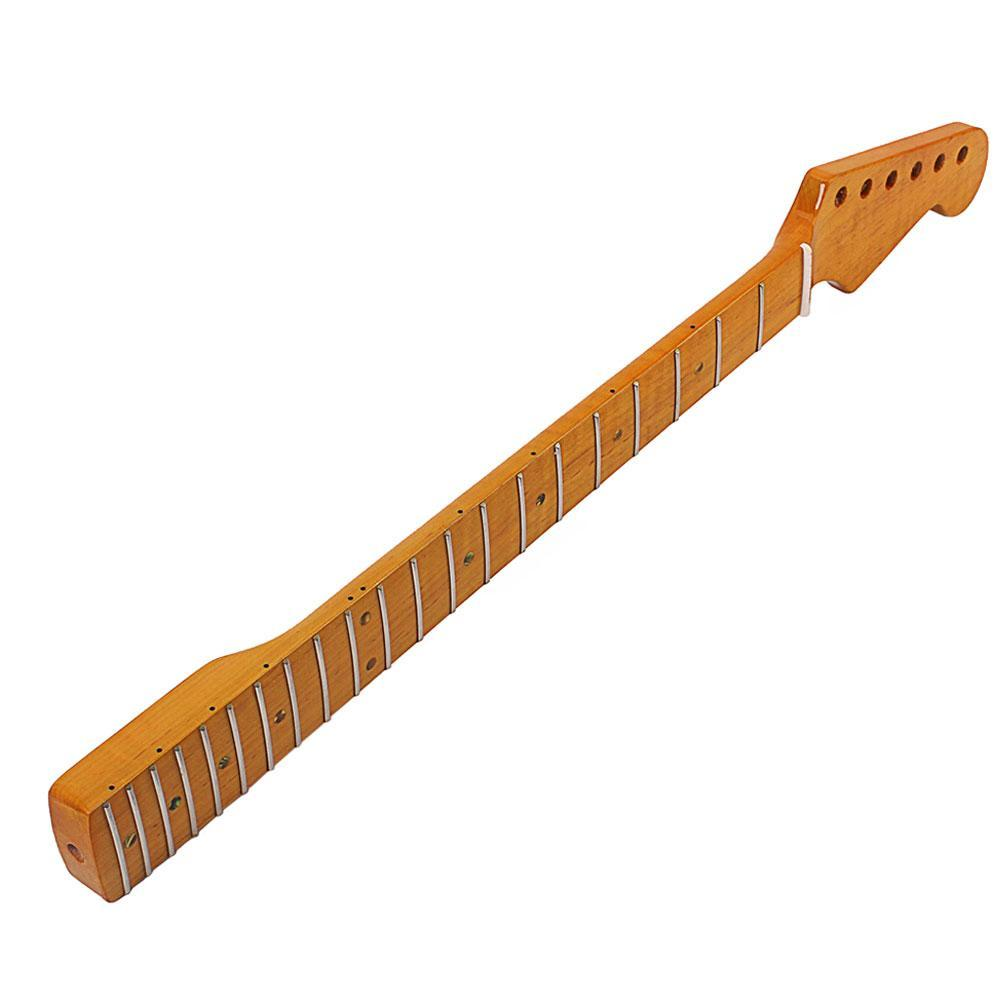 Stylish Wooden 21 Fret Fingerboard Neck Parts Replacement for ST Electric Guitar Stringed Instruments