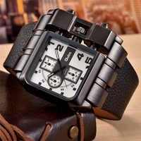 Oulm 3364 Big Size Watches Men Luxury Brand Sport Male Quartz Watch PU Leather Unique Men's Wristwatch relogio masculino