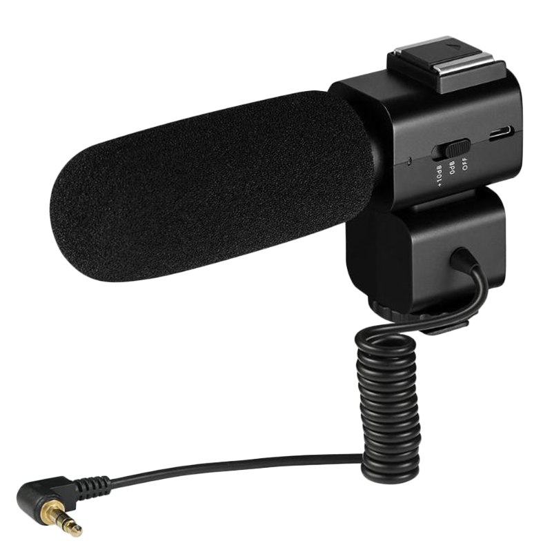 Cm-520 External Condenser Microphone W/Hot Shoe Mount Mobilephone Adapter For Smartphone Canon Nikon Sony Dslr Video Camera
