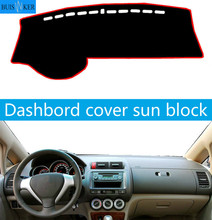 For Honda Fit Jazz 2004-2007 Dashboard Cover Mat Dash Pad Anti-UV Sun Shade Auto Instrument Cover Carpet Car Styling Accessories car dashboard cover for toyota noah voxy 2014 2019 right hand drive auto sun shade dash mat dash pad carpet anti uv non slip 1pc