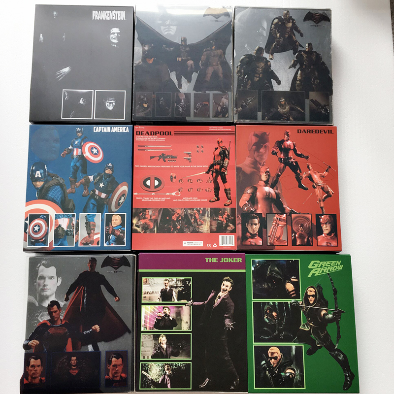 Mezco Batman Green Arrow Captain America Frankenstein Superman Deadpool Spiderman Joker Flash Punisher Action Figure Toys Gift image