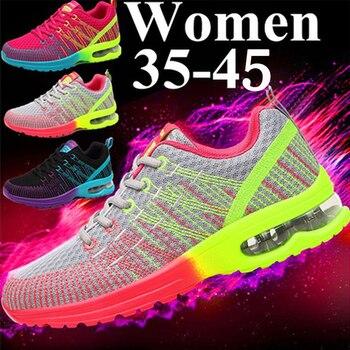 Ladies Sneakers Women Casual Shoes Fashion Breathable Walking Mesh Flat Shoes Sneakers Women 2019 Gym Vulcanized Tenis Feminino