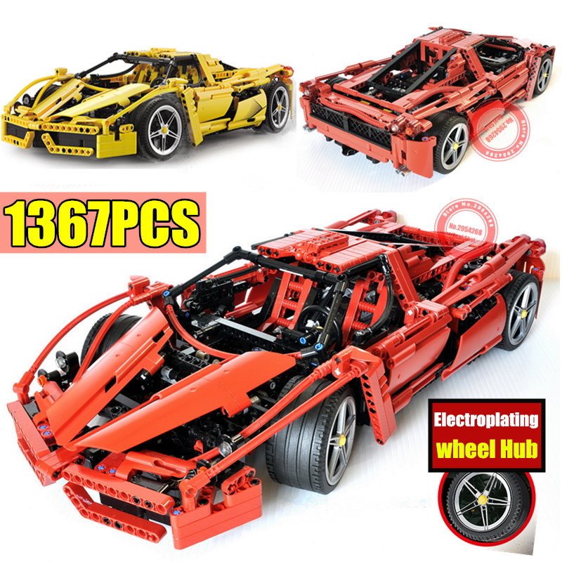 New MOC Classical Racing Enzo Car Fit Legoings Technic Model Building Blocks Bricks Diy Gift Toys Boys Birthday Xmas-in Blocks from Toys & Hobbies    1