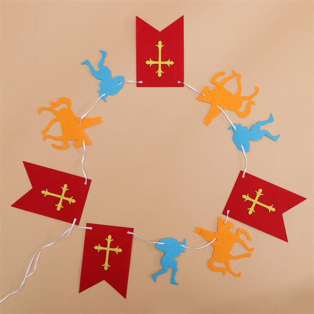 3M Lengte Halloween Non-woven Pull Vlag Banner Opknoping Vlag Props Pull Bloemen Voor Saint Nicolas
