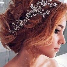 Headpiece-Hair Bridal Rhinestone Clip-Brides Crystal for Women