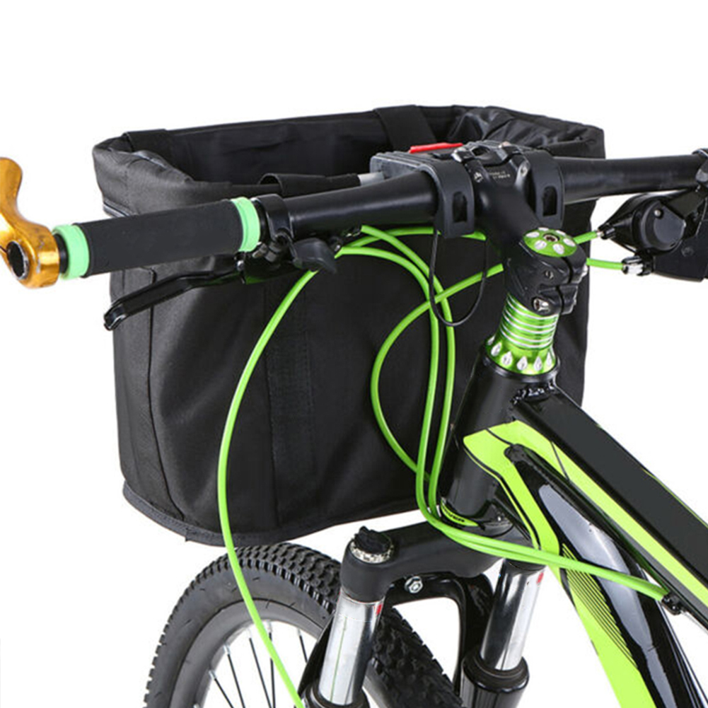 Bike Front Basket Folding Bicycle Handlebar Pet Bag Cycling Handbag Waterproof