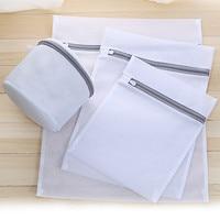 Venda quente malha sacos de lavanderia para máquina de lavar roupa de viagem armazenamento net zip saco para lavagem sutiã meia e roupa interior|Sacos lavan.| |  -