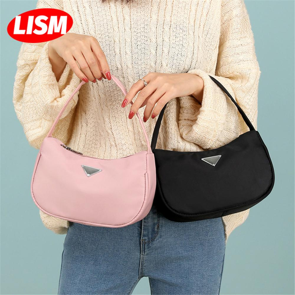 2019 New Fashion Shoulder Women Bag Hand Bag Personality Wild Fashion Baguette Small Handbag Nylon Beach Party Bag|Top-Handle Bags| - AliExpress