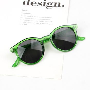 Vintage okrągłe okulary przeciwsłoneczne dla dzieci dla dziewczynek chłopiec Retro ponadgabarytowe okulary przeciwsłoneczne dla dzieci dla dzieci niemowlę maluch plastikowe Gafas 2020 tanie i dobre opinie Ywdm CN (pochodzenie) Dziewczyny Gogle Z tworzywa sztucznego Lustro UV400 46mm sunglasses-7902 50mm child baby toddler kids