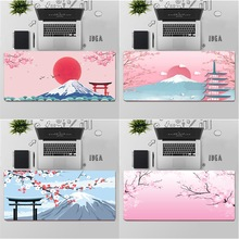 Maiya Japanese pink cherry blossom style Gaming Player desk laptop Rubber Mouse Mat Free Shipping Large Mouse Pad Keyboards Mat