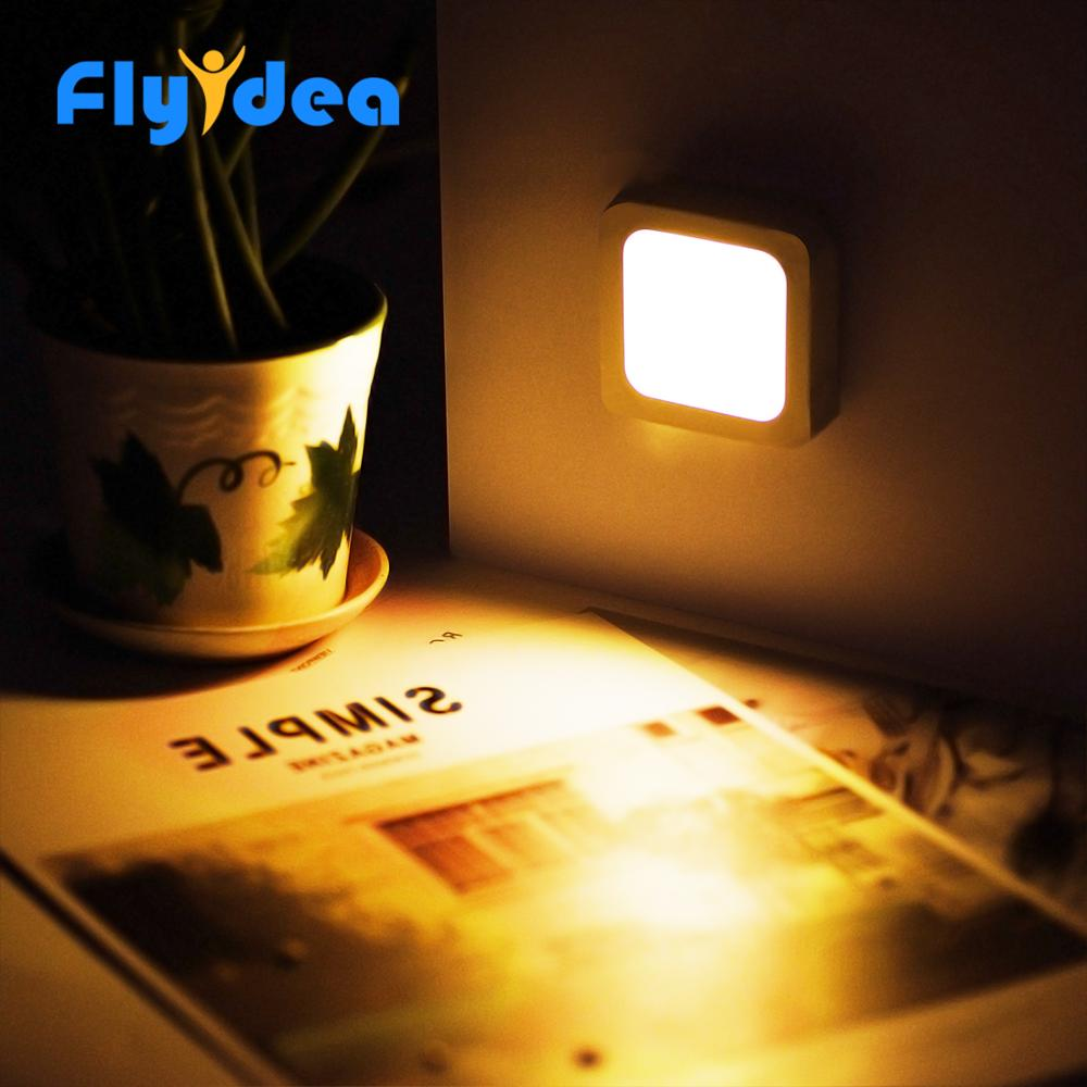 Square Motion Sensor LED Night Light Household Night Lighting Tool LED Induction Lamp Battery-powered Low Energy Consumption