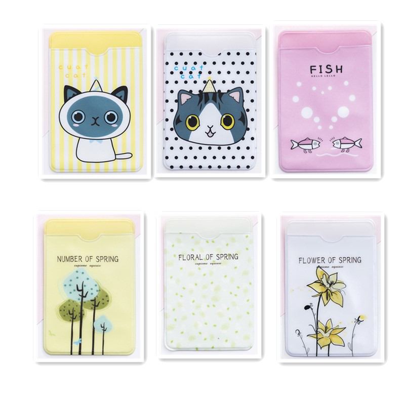 Cute Small Fresh ID Card Holder Case Cartoon Business Bus Bank Credit Card Cover Transparent PVC For Student Kid Women Badge Bag