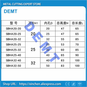 Image 5 - SBHA Center height 20/25 for internal D20 / D25 / D32 / D40 Auxiliary tool holder Mechanical Lathe tool sleeve tools holder