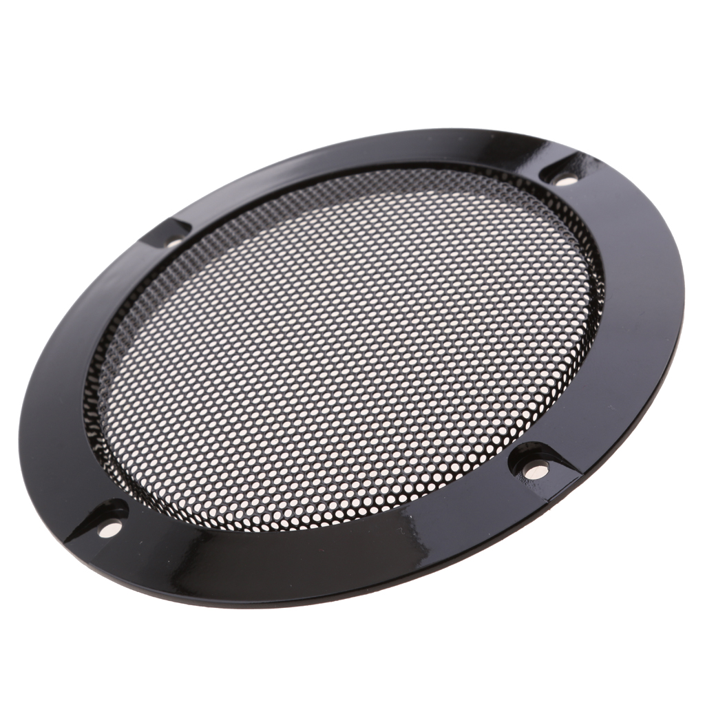 4 Inch Speaker Cover Loudspeaker Decorative Circle Metal Mesh Grille Protection With Screw For DIY