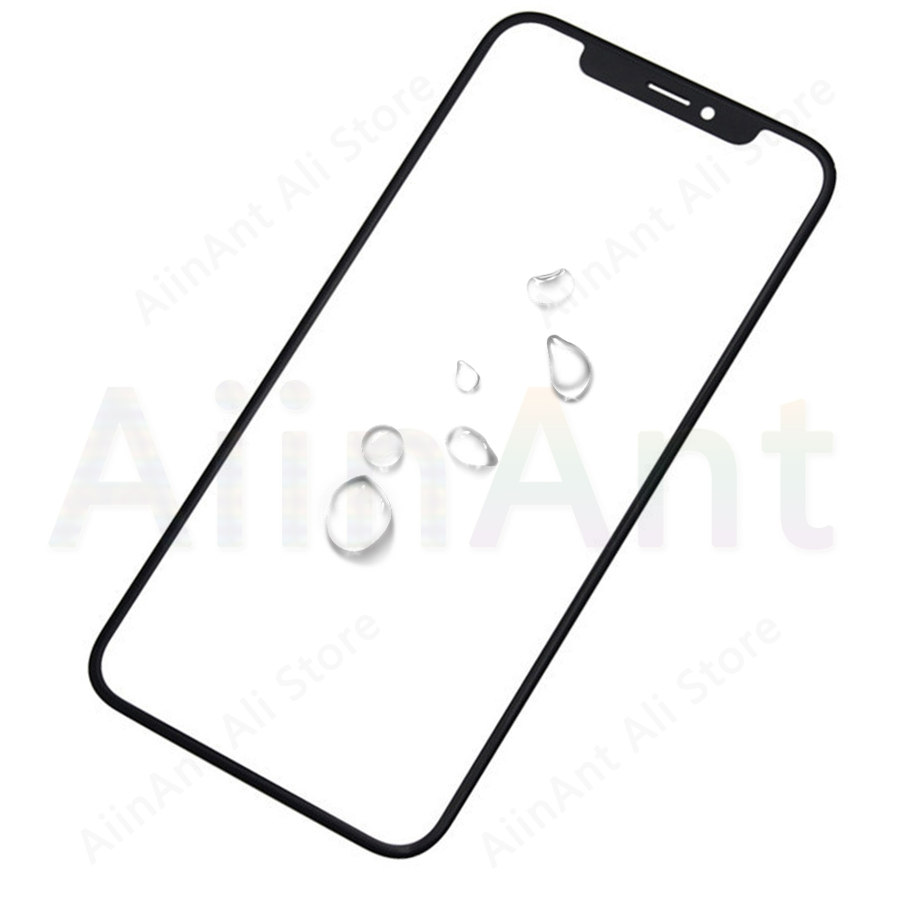 5 Piece Touch <font><b>Glass</b></font> For <font><b>iPhone</b></font> <font><b>X</b></font> Xs Max Front Outer LCD Screen with OCA Optical Clear Adhesive <font><b>Repair</b></font> Parts image