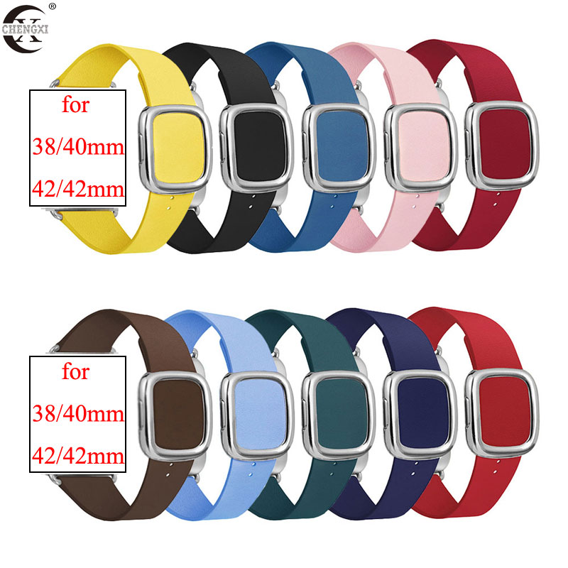 Watch band for Apple Watch 5/4 42mm 44mm Official Modern style Buckle straps for iwatch 3/2/1 38mm 40mm Apple watch accessories|Watchbands| - AliExpress