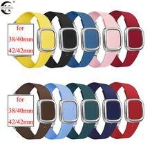 Pulseiras de relógio para apple watch 5/4 42mm 44mm oficial estilo moderno fivela cintas para iwatch 3/2/1 38mm 40mm apple watch acessórios