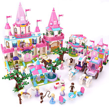 34 Style Legoings Friends  Dream Princess Elsa Ice Castle Princess Anna Set Model Building Blocks Christmas Gifts Toys 203pcs friends vet clinic princess anna and kristoff s sleigh model set building blocks friends gifts toys princess