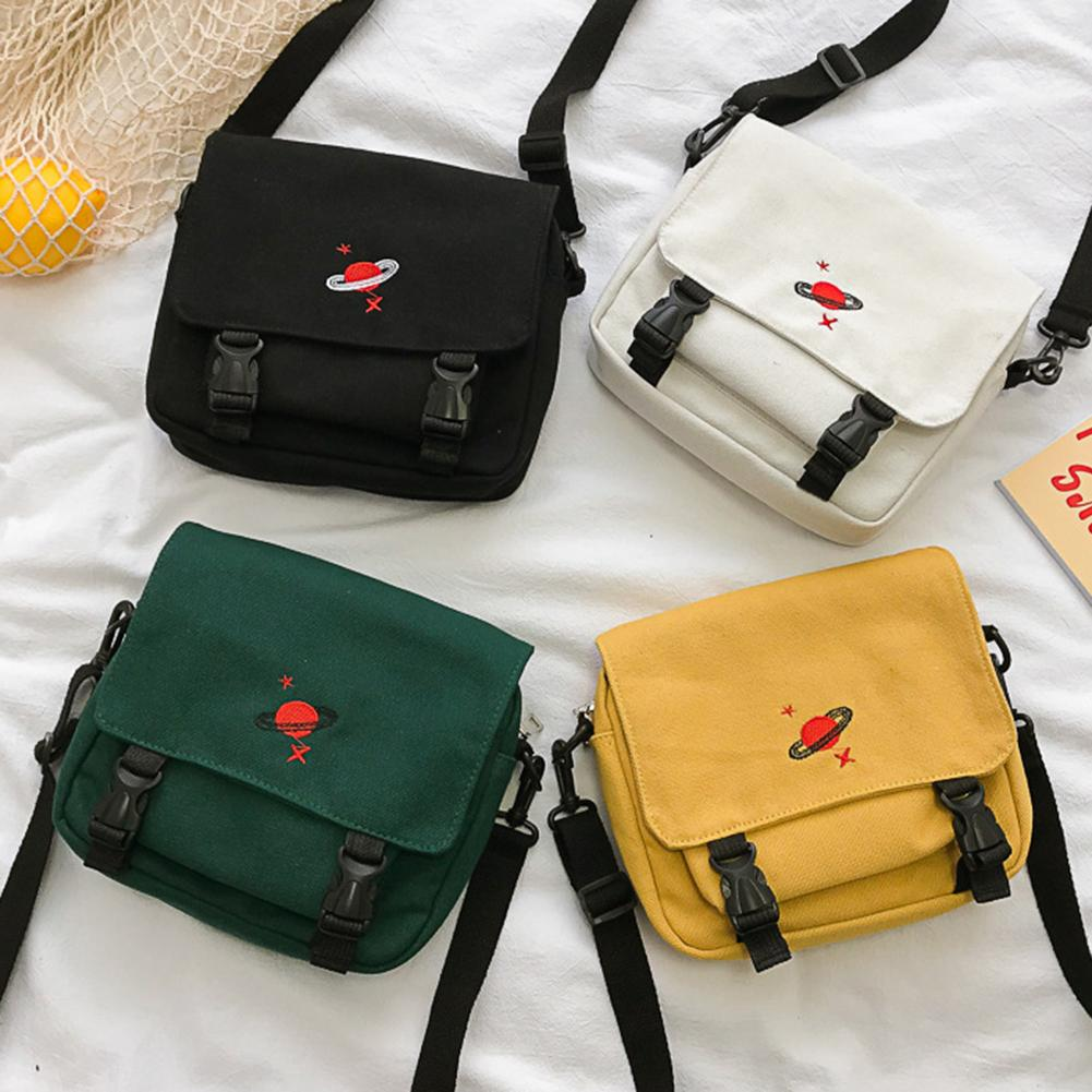 Womens Bags Handbags Solid Color Multi T Planet Embroidery Canvas Shoulder Bag Messenger Pouch Bags For Women 2019