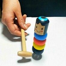 Игра в народном стиле для детей раннего возраста, кубики, игрушки, деревянные маленькие куклы, волшебные, Immortal Daruma, лучший подарок на день рождения, Рождество для детей