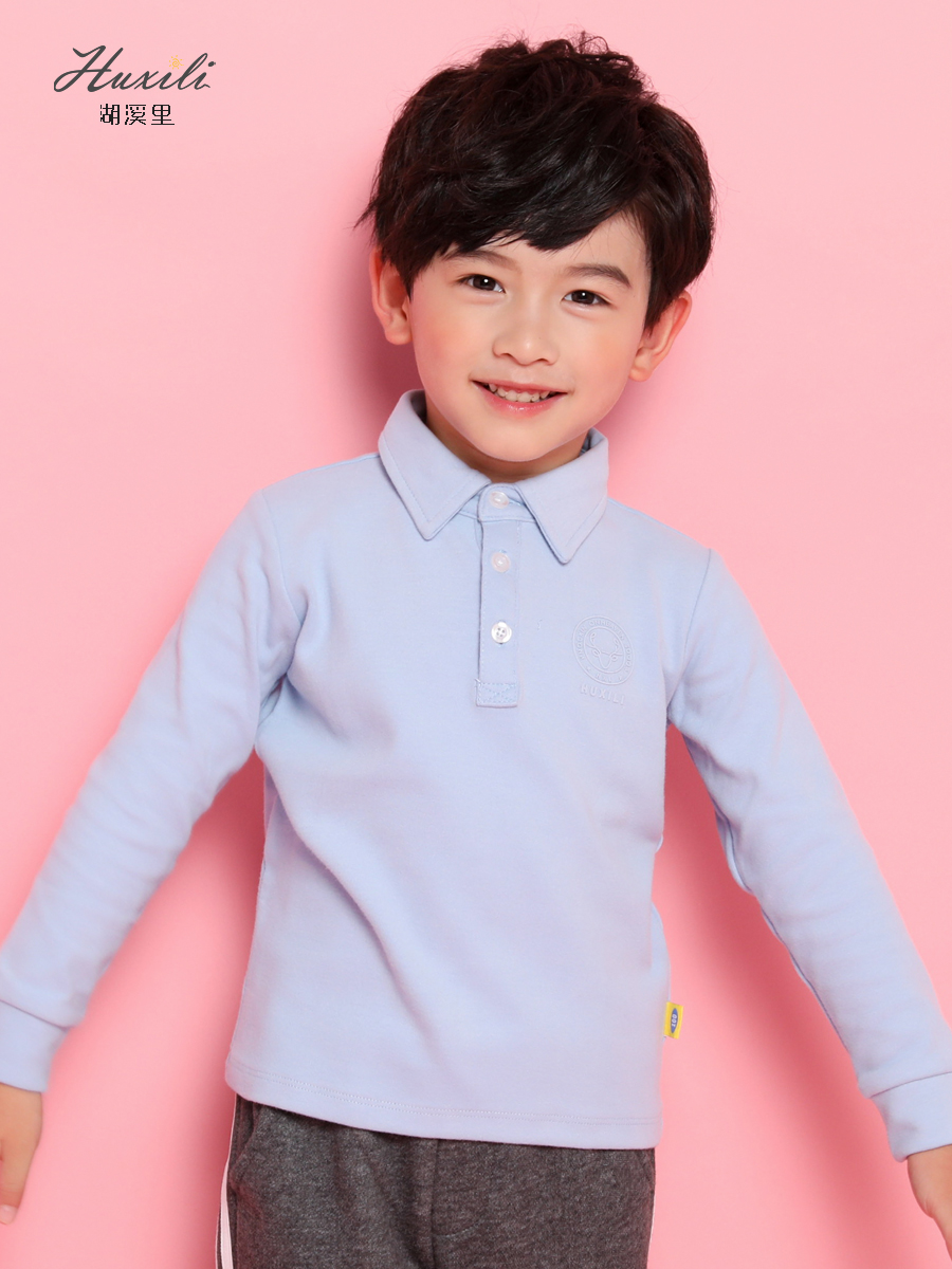 2019 Autumn Winter New High Quality Boys Polo Shirts Long Sleeved Cotton Thick Turn-Down Collar Kids Polo Shirt Tops Tees White