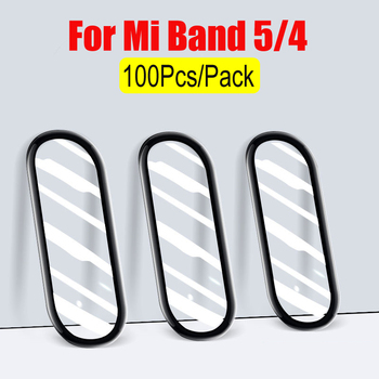 100Pcs/Pack For Xiaomi Mi Band 5 Screen Protector Film 3D Soft For Mi band 5 Bracelet Miband 5 Screen Protection Protective film