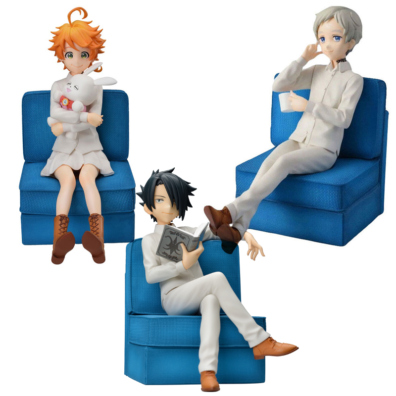 Original Japanese Anime Figure The Promised Neverland Emma Norman Ray Figure PVC Action Model Toys Anime  Action Figure