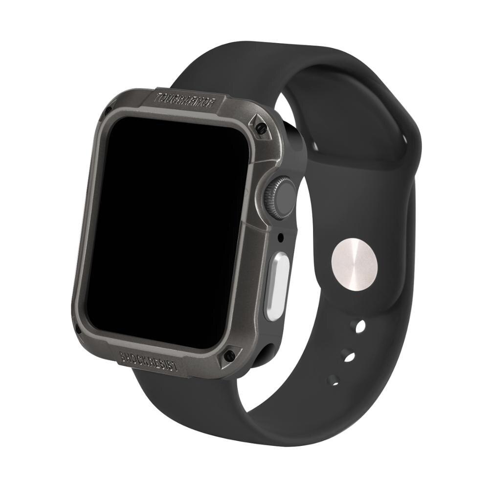 Armadura carcasa de pantalla protectora para iwatch Apple Watch 6 5 4 3 2 1 SE 44mm 40mm 42mm 38mm 38mm 38 40mm cubierta protectora protección de película