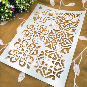 Totem mold shield DIY cake scrapbook stencils hollow Embellishments printing lace ruler Valentine's Day