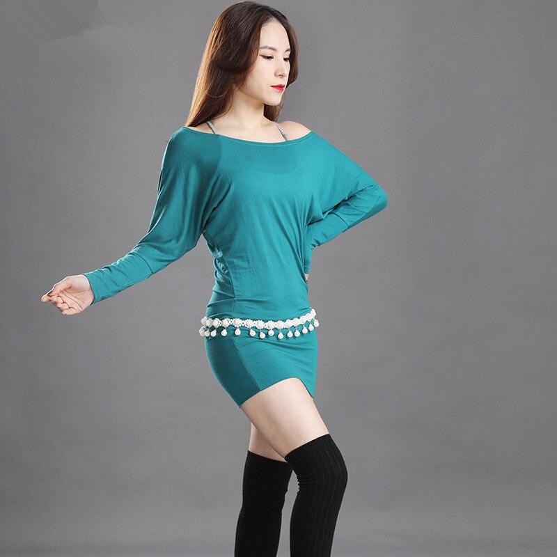 Belly Dance Dress Women's New Baladi Robre Autumn And Winter Folk Dance One Piece Dress Training Clothes Performance Suit