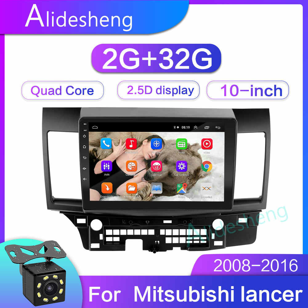 2G + 32G 2.5D 2Din Android 8.1 Mobil Dvd Multimedia Player GPS untuk Mitsubishi Lancer 10 Inch 1024*600 Quad Core Navigatio Wifi Bt