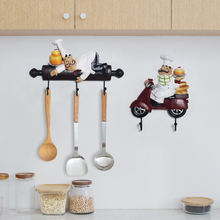 Шеф повар Бескаркасный Крюк настенный Декор мультфильм Отель