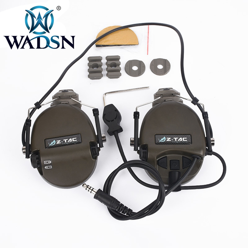 Image 5 - WADSN Sordin Headset Noise Canceling Earphone With FAST Helmet Rail Adapter Set For Military Airsoft Hunting Headphone WZ034-in Tactical Headsets & Accessories from Sports & Entertainment